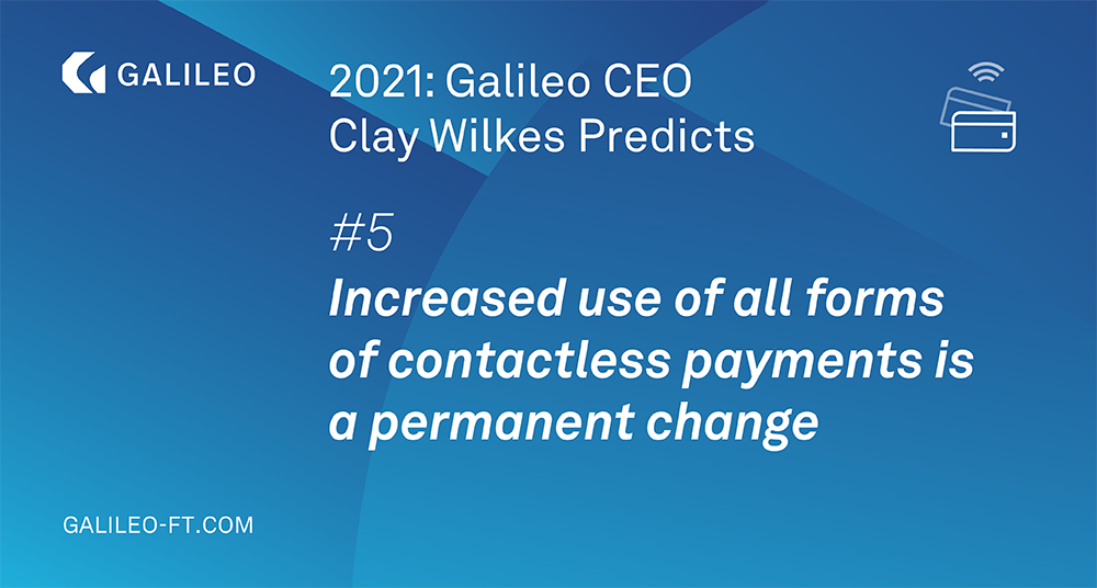 Increased use of all forms of contactless payments is a permanent change image